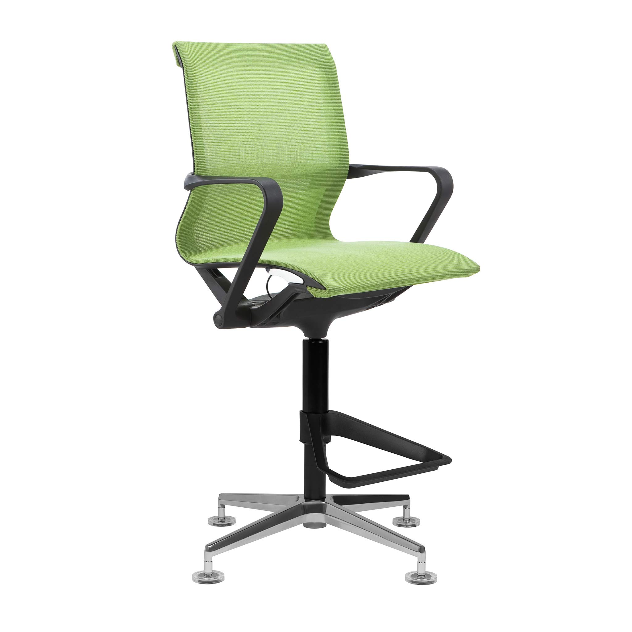 Empire Mesh Drafting Chair - Ergonomically Designed and Commercial Grade Draft Height (Green)