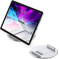 Adjustable Tablet Stand, OMOTON Aluminum Desktop Tablet Cellphone Stand with Anti-Slip Base, Portable Stand Holder for…