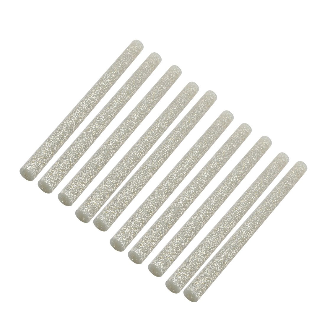 uxcell 10pcs 7mm x 100mm Economy Hot Melt Glue Sticks Silver Tone for DIY Small Craft Projects