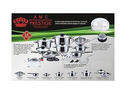 Batería de cocina 25 piezas AMC Prestige Acero