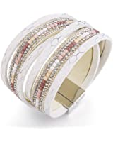 Fancydeli Women's Fashion Slake Wrap Bracelet with Crystal Gift for Girls Women Fashion Jewelry