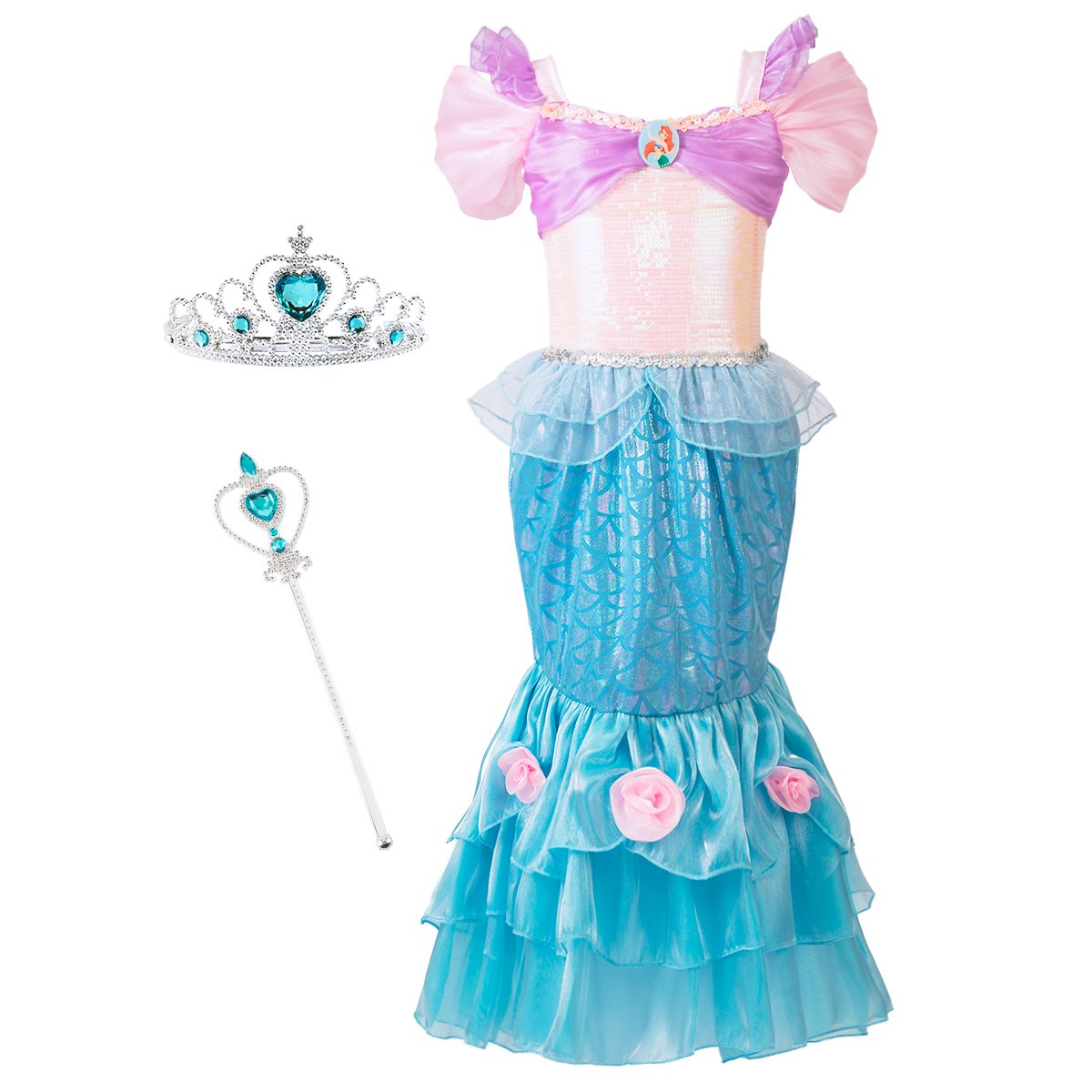 2abf2571017c61 New Style, More Gorgeous and Comfortable, With Tiara and Magic Wand, Best  gift idea for little girl\'s birthday party, halloween, christmas and dress  up ...