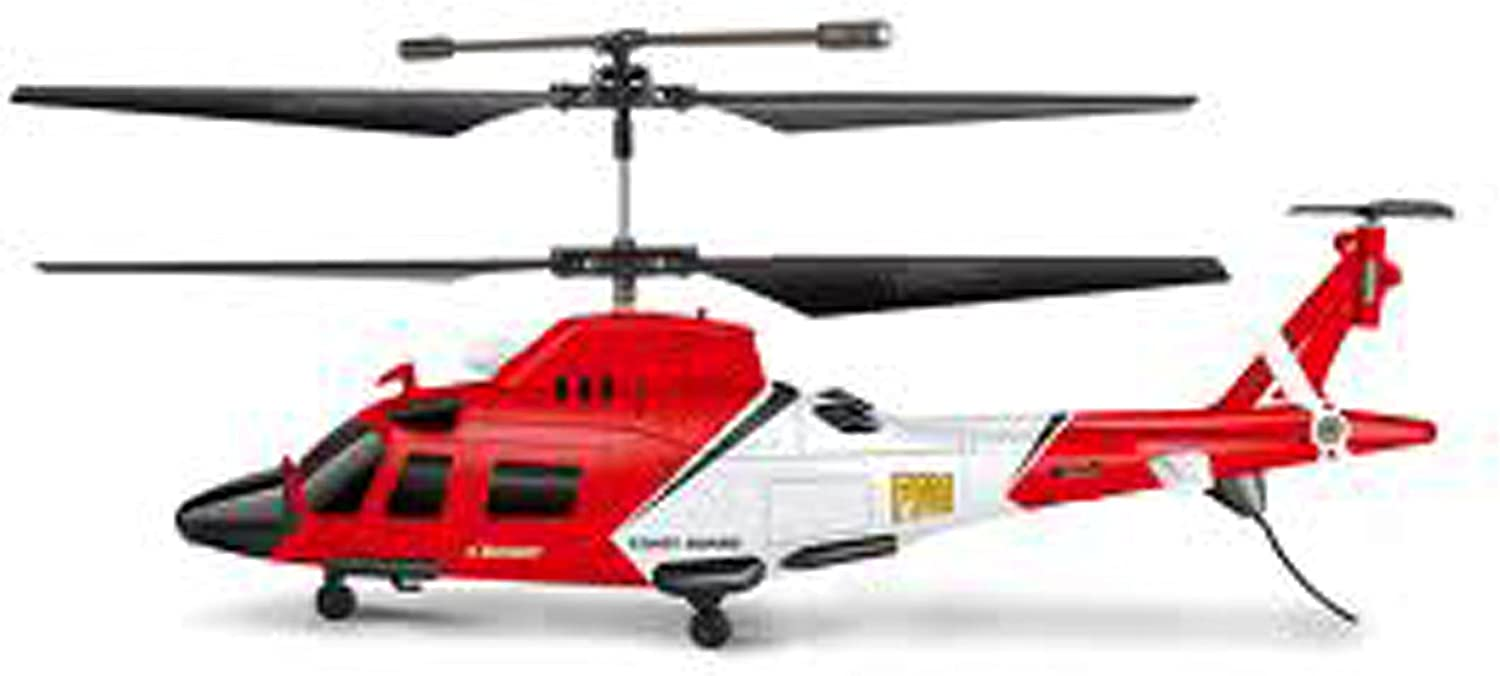 Rc Helicopter Augusta Coast Guard Air Sea Rescue Remote Control Magic Wand Helicopter P701B