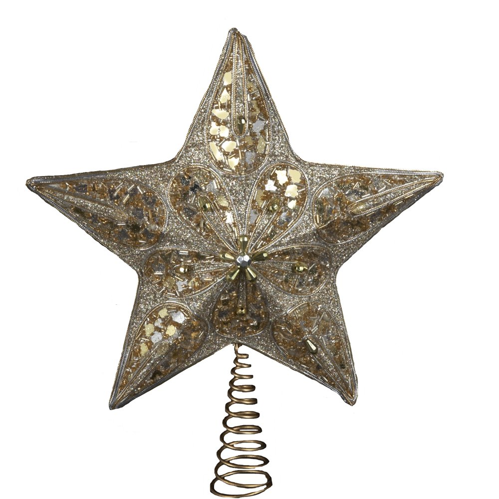 Kurt Adler 14-Inch Silver and Gold Treetop S3727