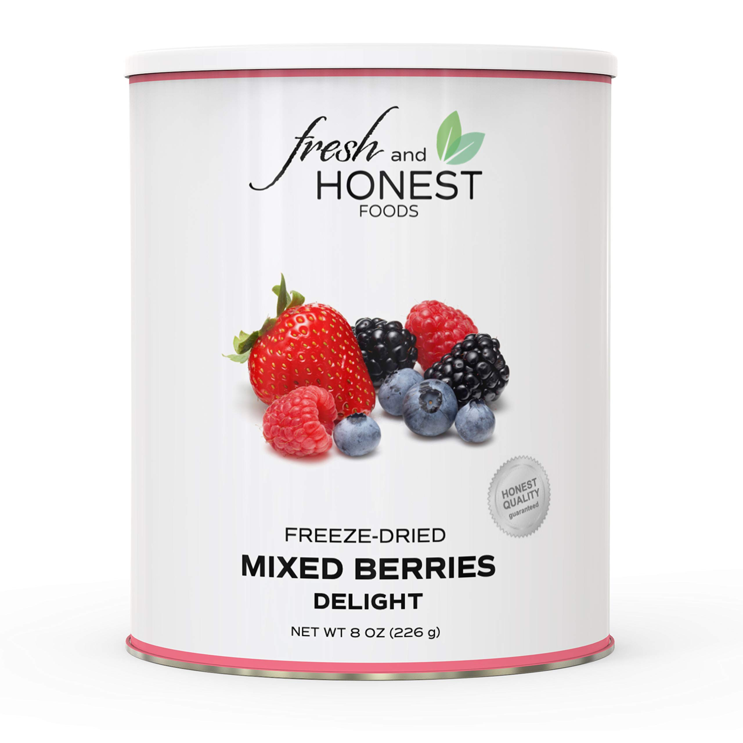 Fresh and Honest Foods 100% All Natural Freeze Dried Mixed Berries Delight 7.9 OZ #10 Can