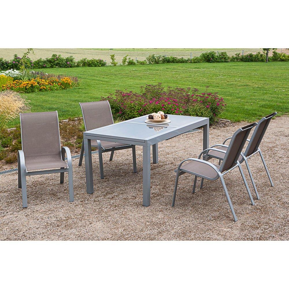 Merxx Gartenmöbel Set Amalfi Silbertaupe 5 Tlg Online Kaufen