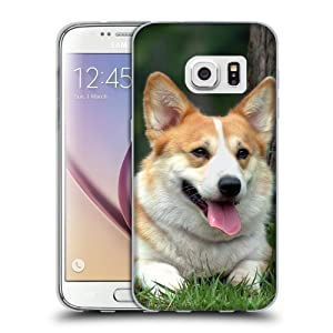 Printed Soft Flexible TPU Slim Fit Cover Case // V00005428 Welsh Corgi dog under the tree // Samsung Galaxy S7 (Not Fit S7 EDGE)