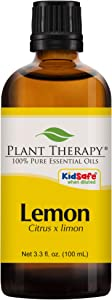 Plant Therapy Lemon Essential Oil | 100% Pure, Undiluted, Natural Aromatherapy, Therapeutic Grade | 100 milliliter (3.3 ounce)