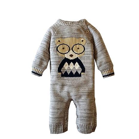 Ann Sang recién nacido bebé Pelele de manga larga Onesies Body de invierno ropa interior Plus