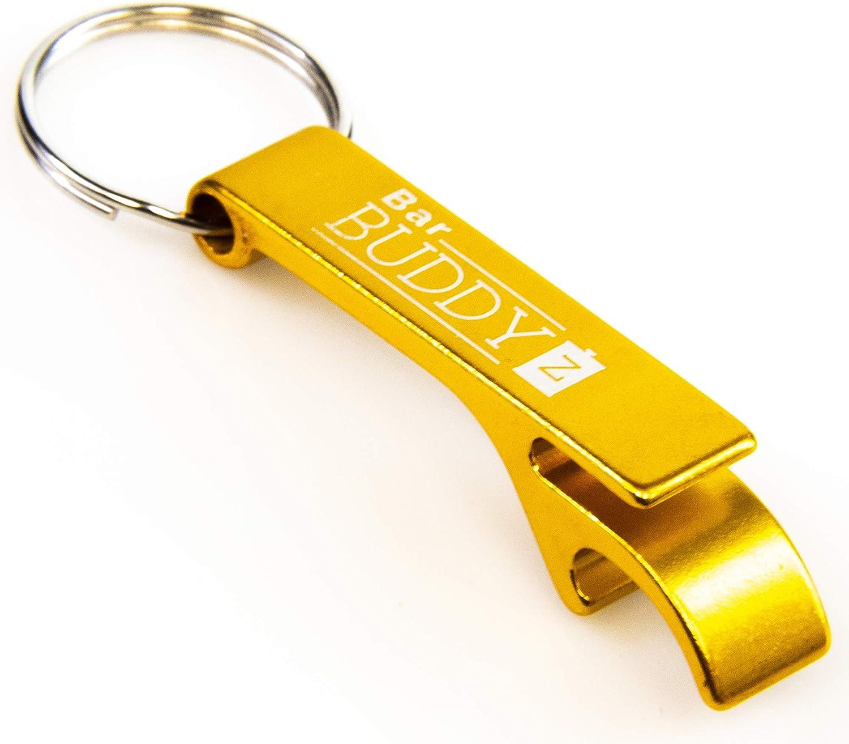Keychain Bottle Opener - bartender bottle opener - Best Aluminum Bottle/Can Opener - Compact, Versatile & Durable - Vibrant Colors - Premium Keyring Bottle Opener - Ergonomic Design Gold