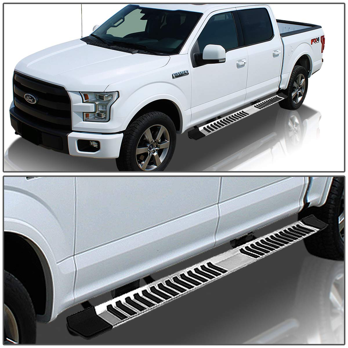 Pair 6 inches Width Stainless Steel Side Step Bar Running Boards ...