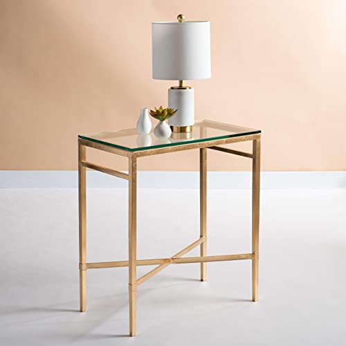 Safavieh American Homes Collection Viggo Antique Gold Glass Couture Side Table
