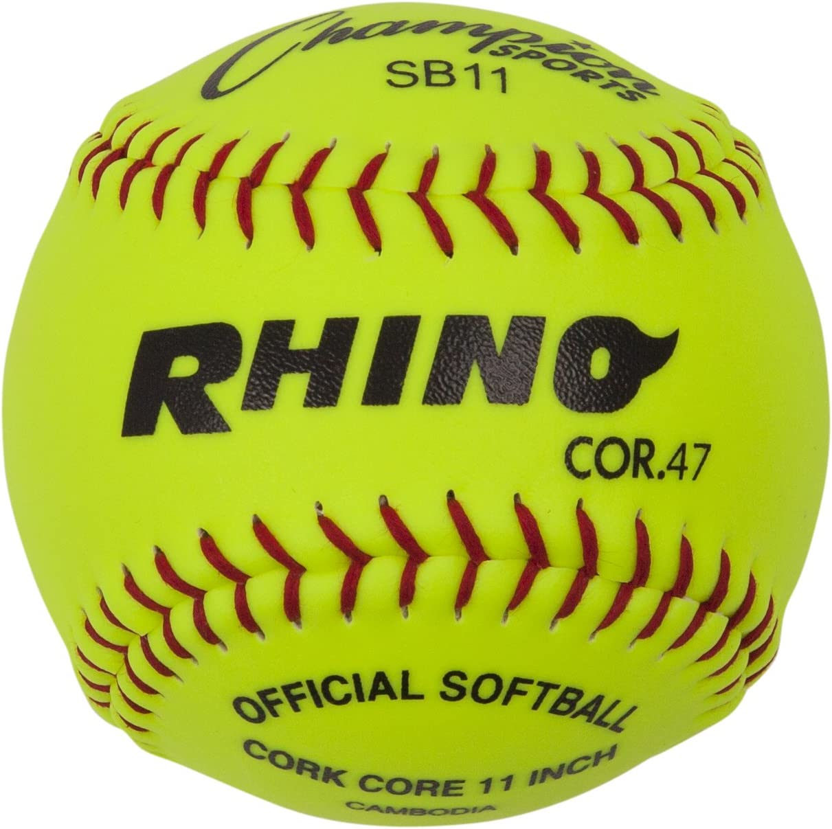 Champion Sports Optic Yellow Synthetic Leather Softballs