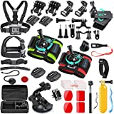 SmilePowo 51-in-1 Action Camera Accessories Kit for GoPro Hero 9 8 Max 7 6 5 4 3 3+ 2 1 Black GoPro 2018 Session Fusion…