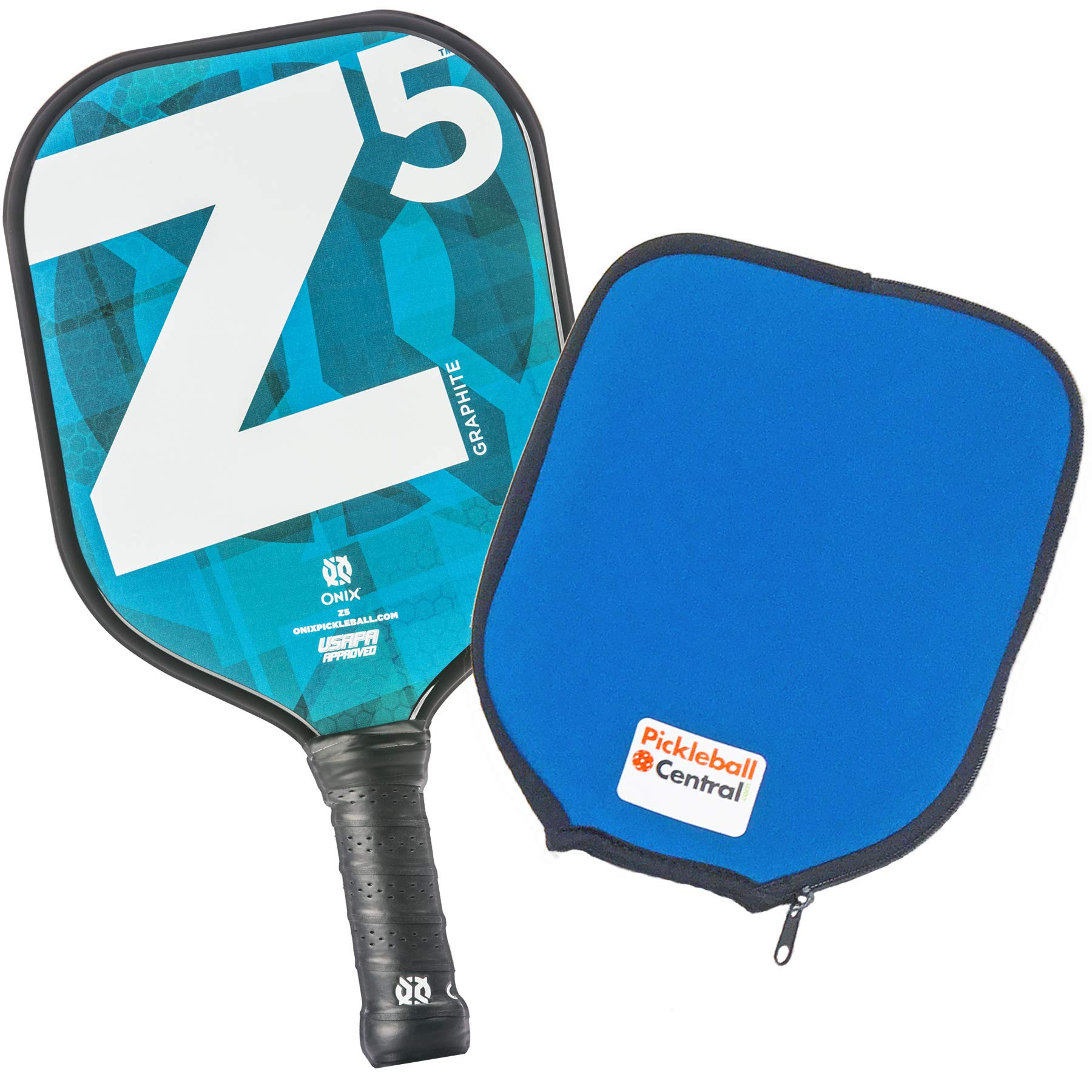 Onix Z5 Graphite Pickleball Paddle and Paddle Cover (Mod Blue) | Gift Pack