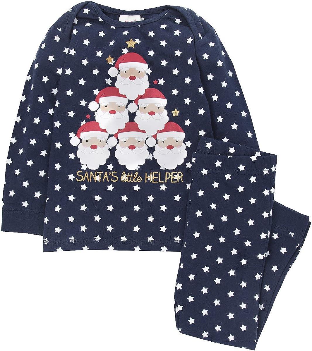 Unisex Baby Toddler 100/% Cotton Novelty Christmas Pyjama PJ Set Sizes 6-24 Months QT