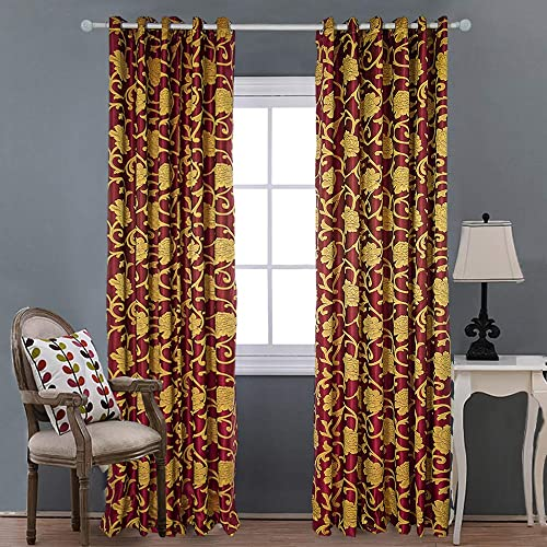 Luxury Jacquard Blackout Curtains 96 Inches Long