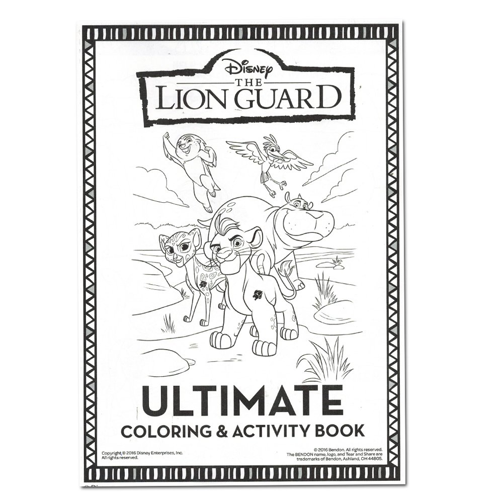 Lion guard coloring book - Amazon Com Lion Guard Coloring And Activity Book With 2 Poster Lion Guard Stickers And Safari Sticker Pack Toys Games