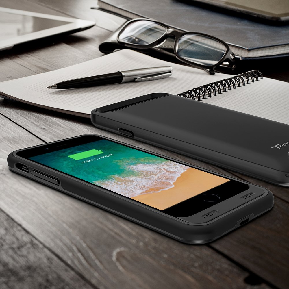 official photos 0e1be c9c23 iPhone 8 Plus Battery Case, Trianium Atomic Pro iPhone 8 Plus Case ...
