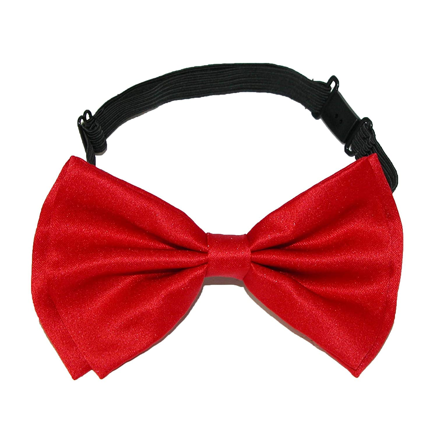 CTM Mens Solid Bow Tie with Suspender Set