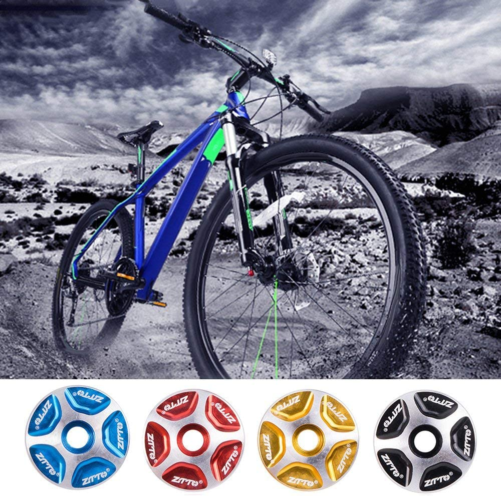 BFHCVDF Durable Use MTB Bicycle Headset Stem Fork Top Cap 1-1//8 Threadless Cover
