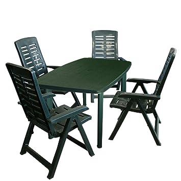 Unbekannt Yuma Salon de Jardin 5 pièces avec Table de Jardin ...