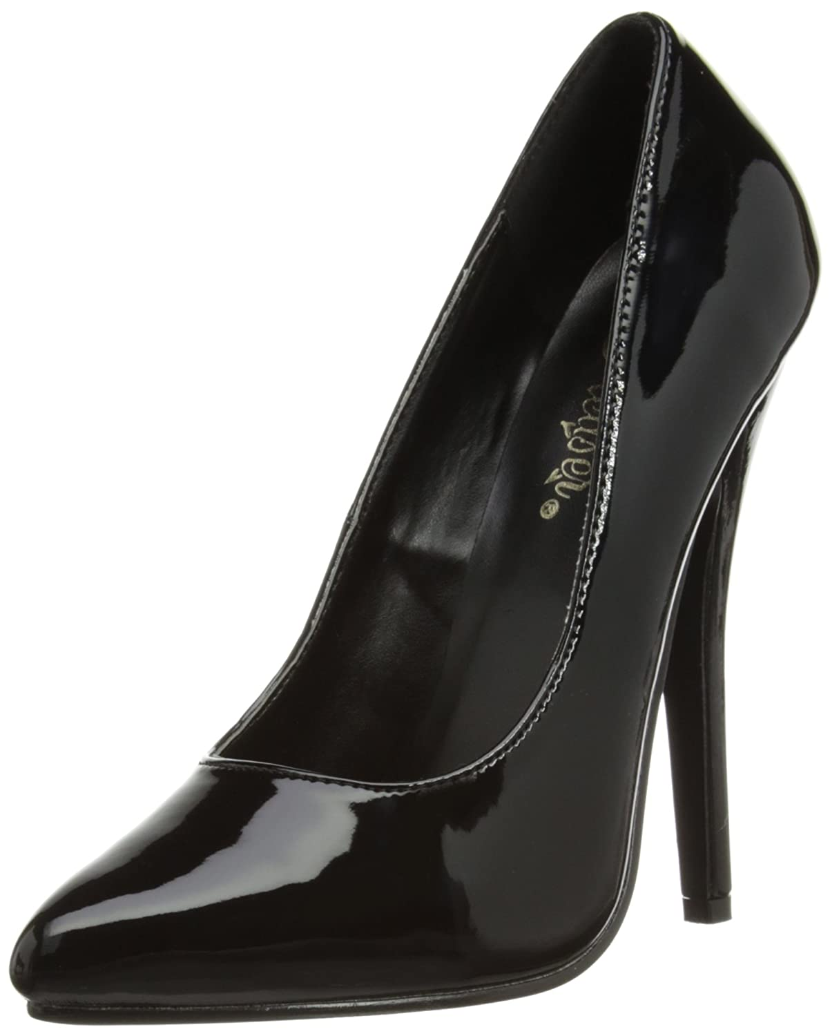Black Patent Pleaser Women's Domina-420 Pump