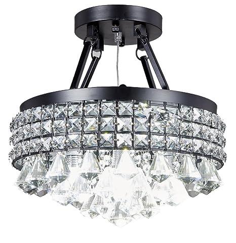 Top Lighting 4-light Crystal Semi-flush Mount Chandelier with ...