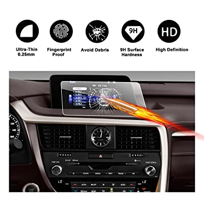 2016 2017 Lexus RX 350 8-Inch Touch Screen Car Display Navigation Screen Protector, RUIYA HD Clear TEMPERED GLASS Car In-Dash Screen Protective Film