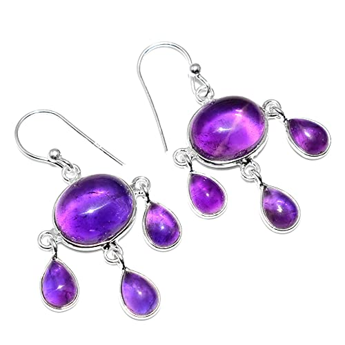 Silver Palace 925 Sterling Silver Natural Amethyst Pendants for Women and Girls