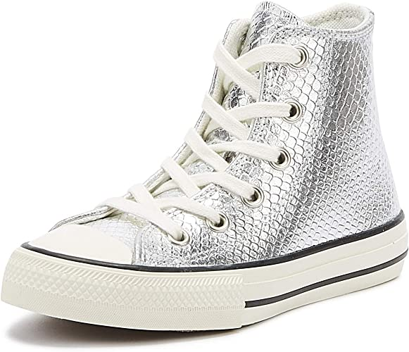 Converse All Star Hi Platform Fille Baskets Mode Silver