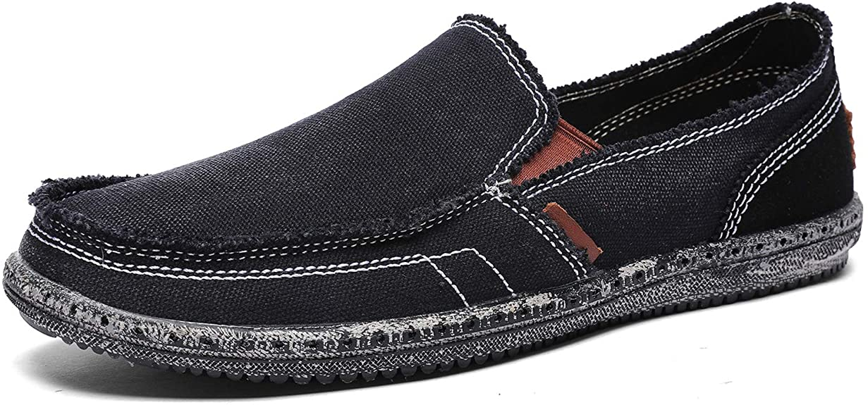 CASMAG Men's Casual Cloth Shoes Canvas Slip-on Loafers
