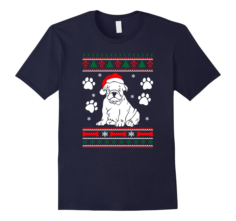 Bulldog Dog Ugly Christmas Sweater Xmas Tshirts-CL