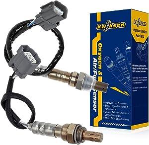Kwiksen Heated 2Pcs Air Fuel Ratio O2 Oxygen Sensor 1 Sensor 2 Upstream Downstream Replacement For Honda CR-V EX LX 2002 2003 2004 2.4L 234-9005 234-4125