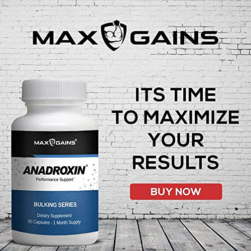 Anadroxin by Max Gains Natural Alternative That Supports Performance. 90 Capsules