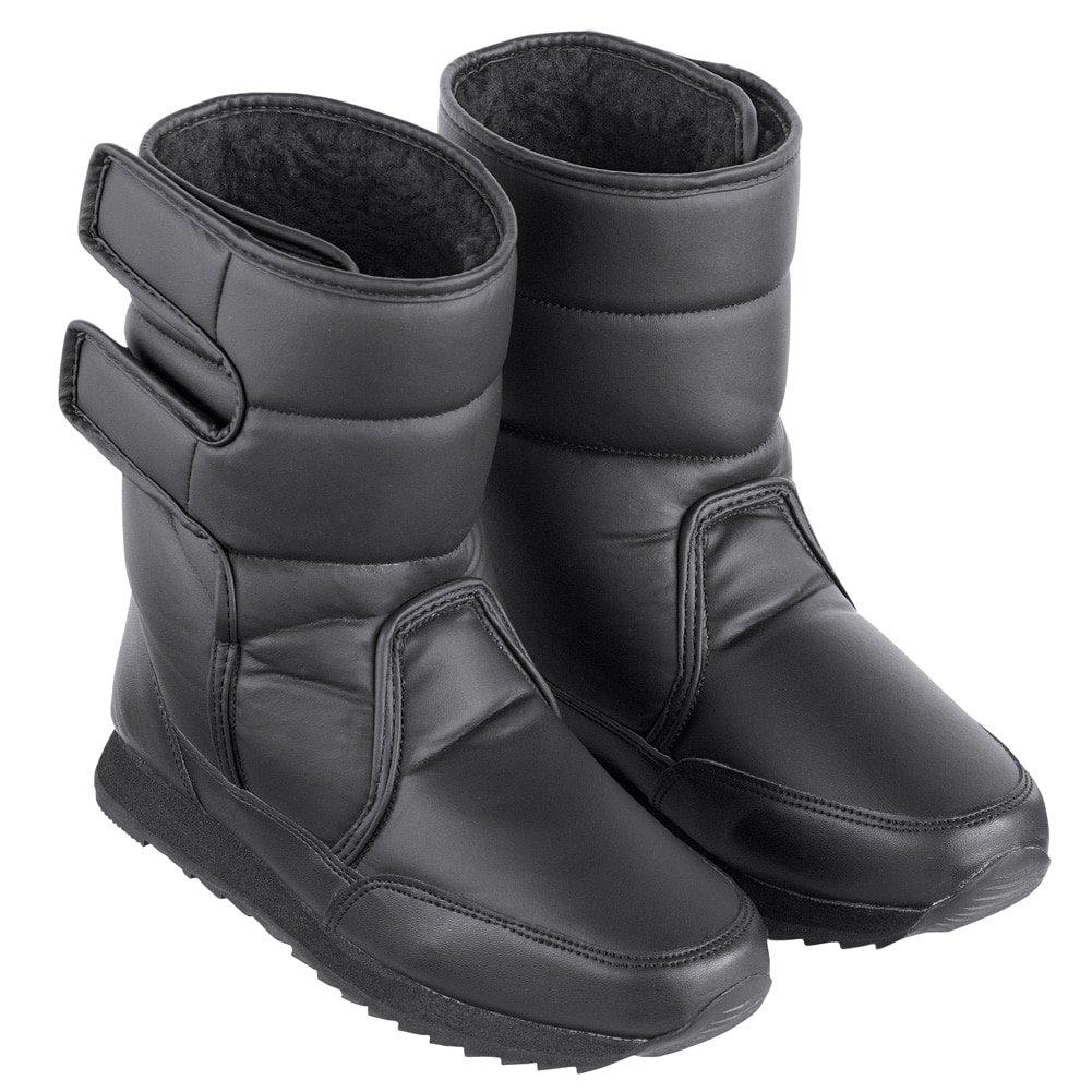Collections Etc Fleece-Lined Slip-Resistant Winter Boot, Black, 9