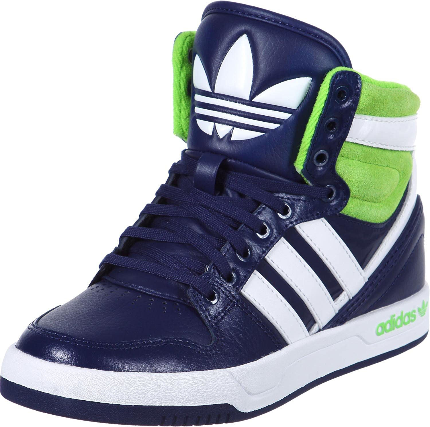 Adidas - Court Attitude - Color: Bianco-Blu marino-Verde - Size: 40.0: Amazon.it: Scarpe e borse