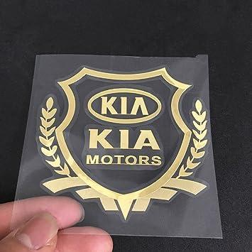 small, Gold Wallner gold car sticker logo decal stickers windows decals for KIA car