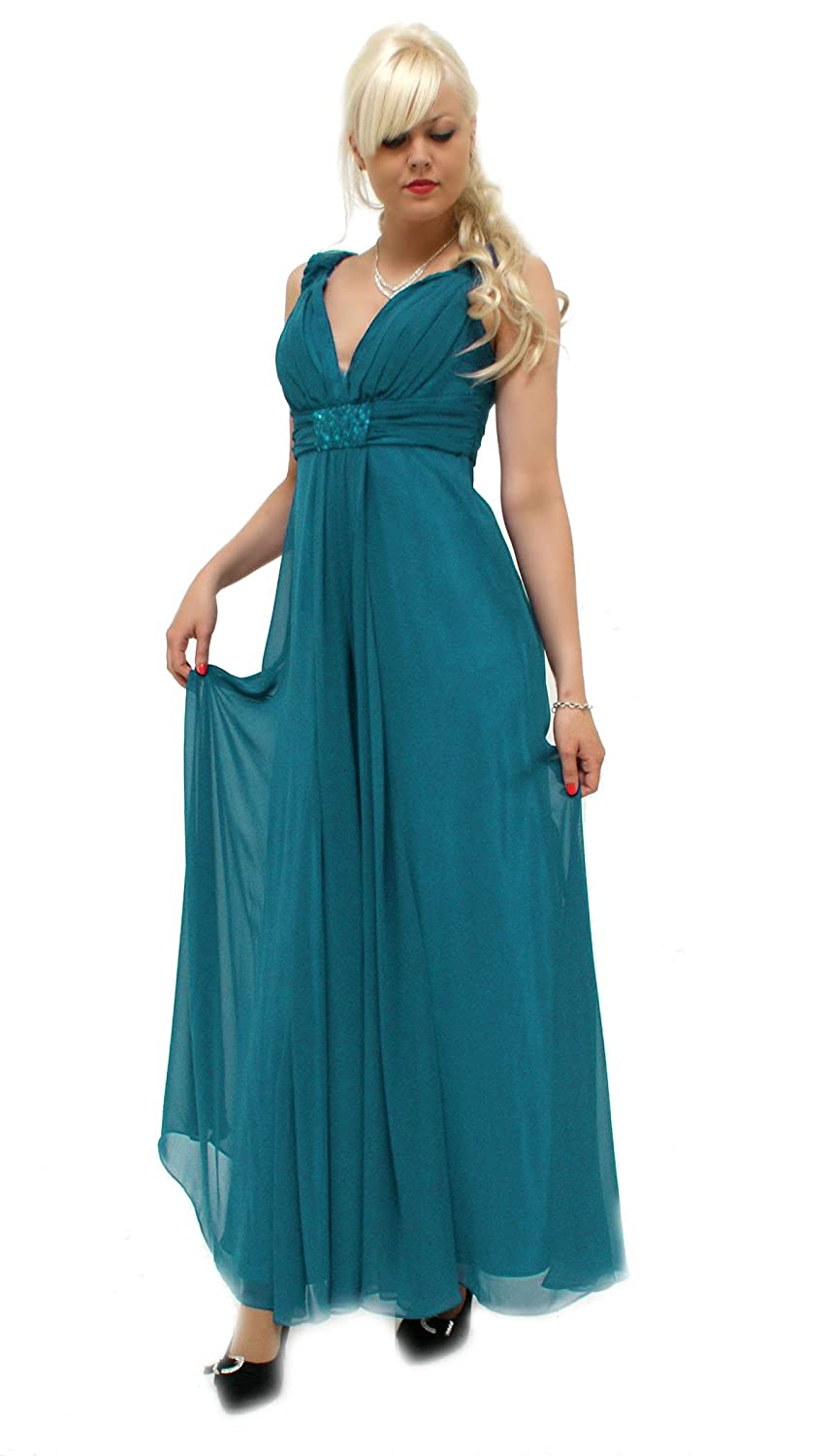 Classy evening dress with v-neck (R827) immediately available