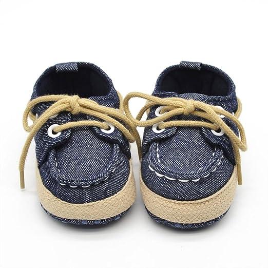 f7a8cf1a1f2c2 Voberry Newborn Baby Boys' Premium Soft Sole Infant Prewalker Toddler  Sneaker Shoes