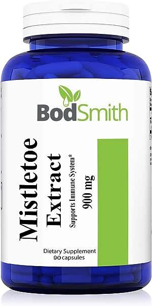 Mistletoe Extract 900mg 90 Capsules (European Mistletoe) (Viscum Album) May Help Support The Immune System*