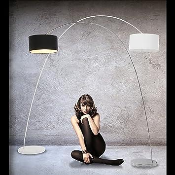 DESIGN LAMPADA AD ARCO | bianco, metallo, 200 x 160 cm |: Amazon ...