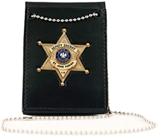 product image for Boston Leather Value Badge Holder with Neck Cha - 4050-1