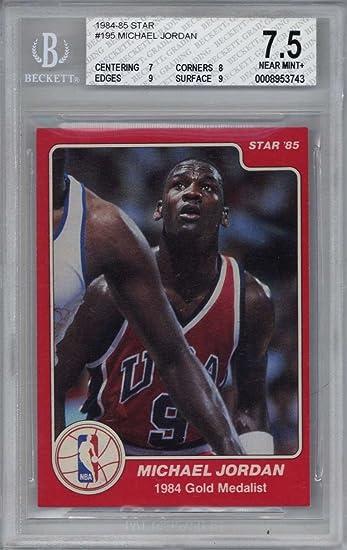 1984 85 Star Michael Jordan 195 USA Olympic Team Basketball Card
