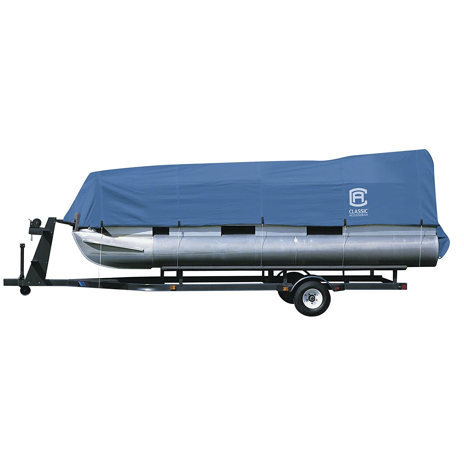 Classic Accessories Stellex All Seasons Pontoon Boat Cover, Blue