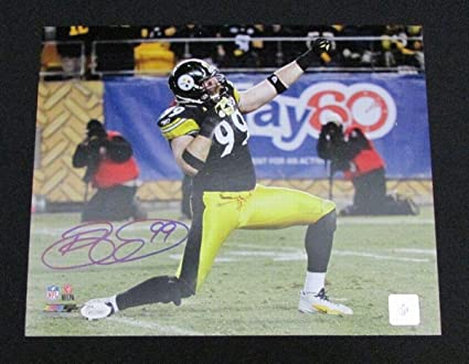 3ae6c37d7 Image Unavailable. Image not available for. Color  Autographed Brett Keisel  Picture - 11x14 WP129088 - JSA Certified - Autographed NFL Photos