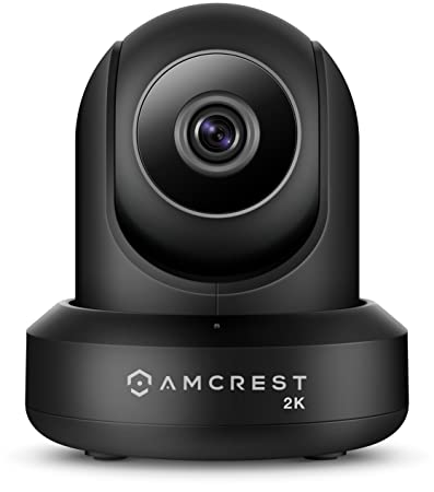 Amcrest UltraHD 2K WiFi Video Security IP Camera w Pan Tilt, Dual Band 5ghz 2.4ghz, Two-Way Audio, 3-Megapixel 20FPS, Wide 90 Viewing Angle Night Vision IP3M-941B Black Renewed