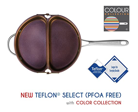 TECHEF - Frittata and Omelette Pan, Coated with New Teflon Select / Non-stick Coating (PFOA Free) (Purple) by TECHEF: Amazon.es: Hogar