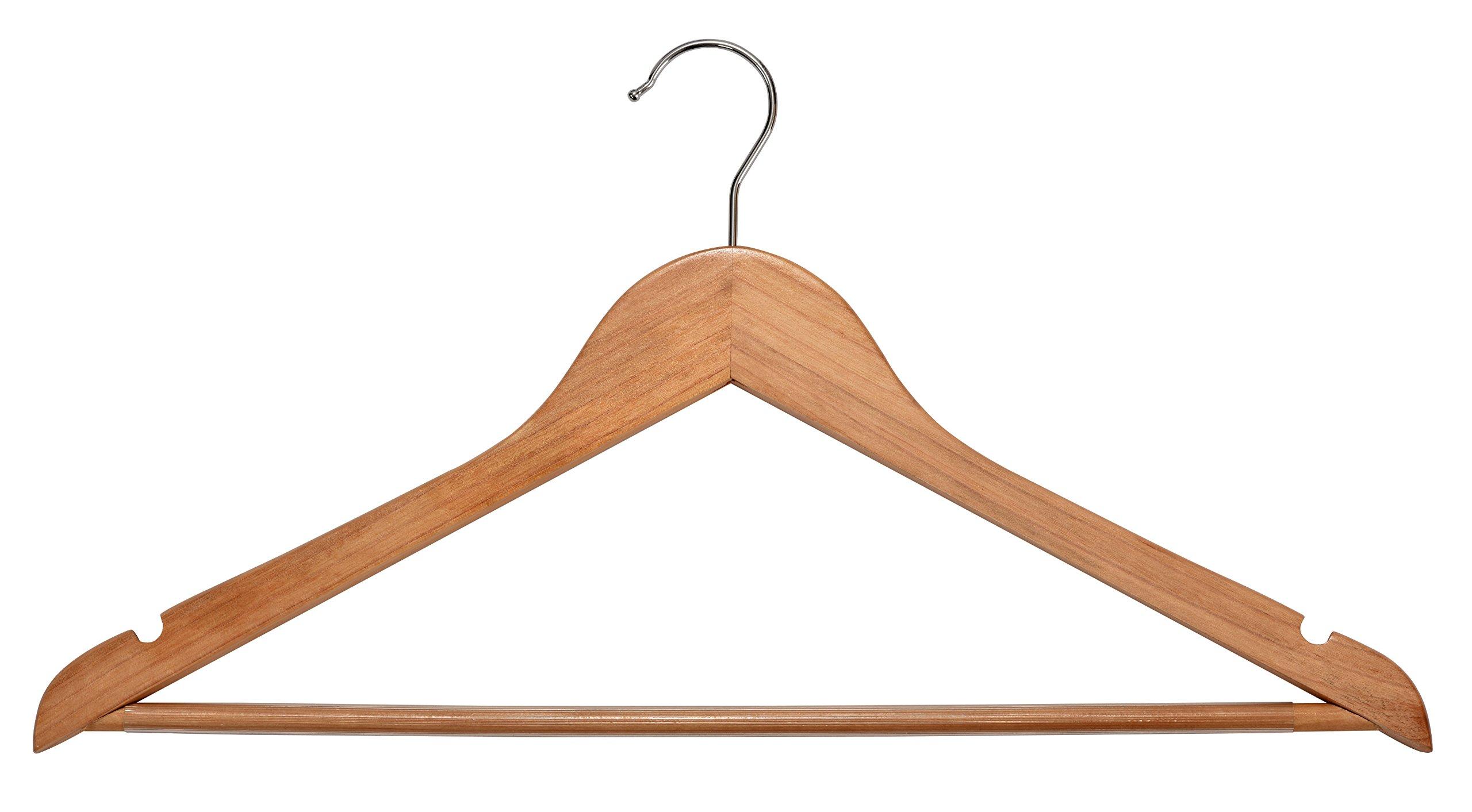 Muscle Rack WCHWB-N30PK Wood Suit Hangers, Natural, 8.5'' Height, 17.5'' Width, 0.25'' Length