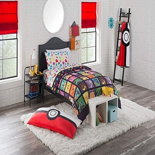 D.I.D. Juego de cama de 4 piezas con diseño de Pokémon para ...